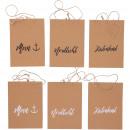 Paper bag Moin, 3 motifs, 2 colors, L16cm, B6,